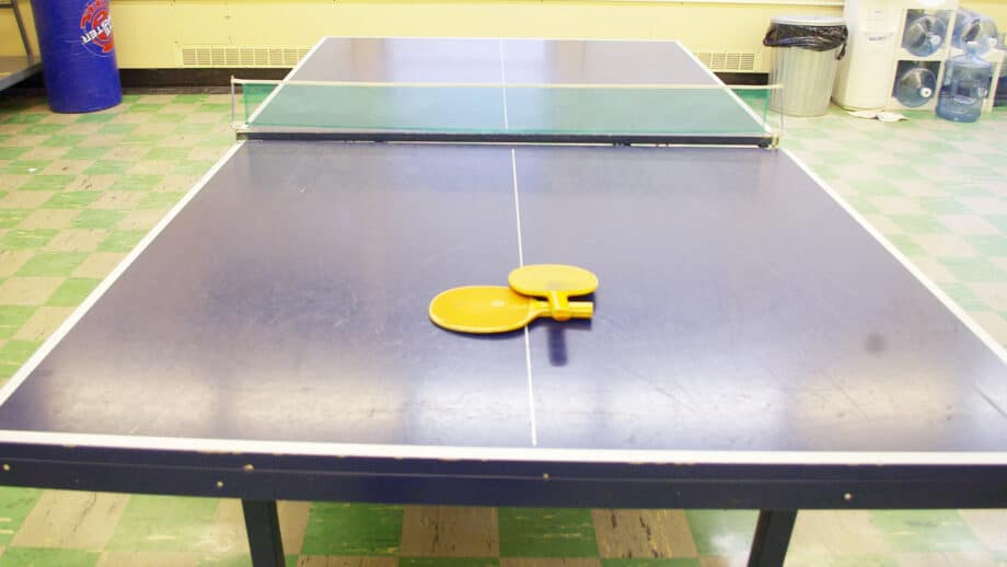 A ping-pong table